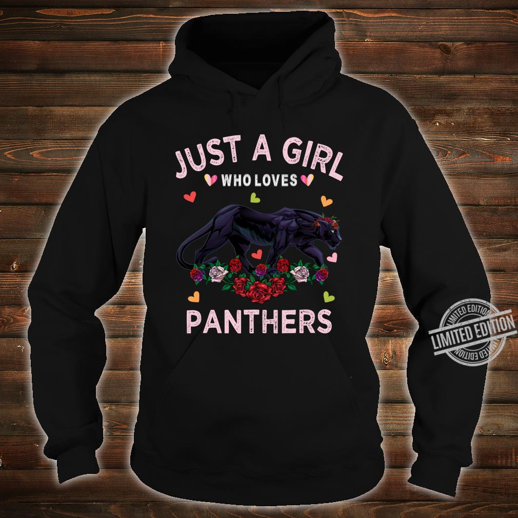 Panther Just A Girl Who Loves Panthers Shirt hoodie