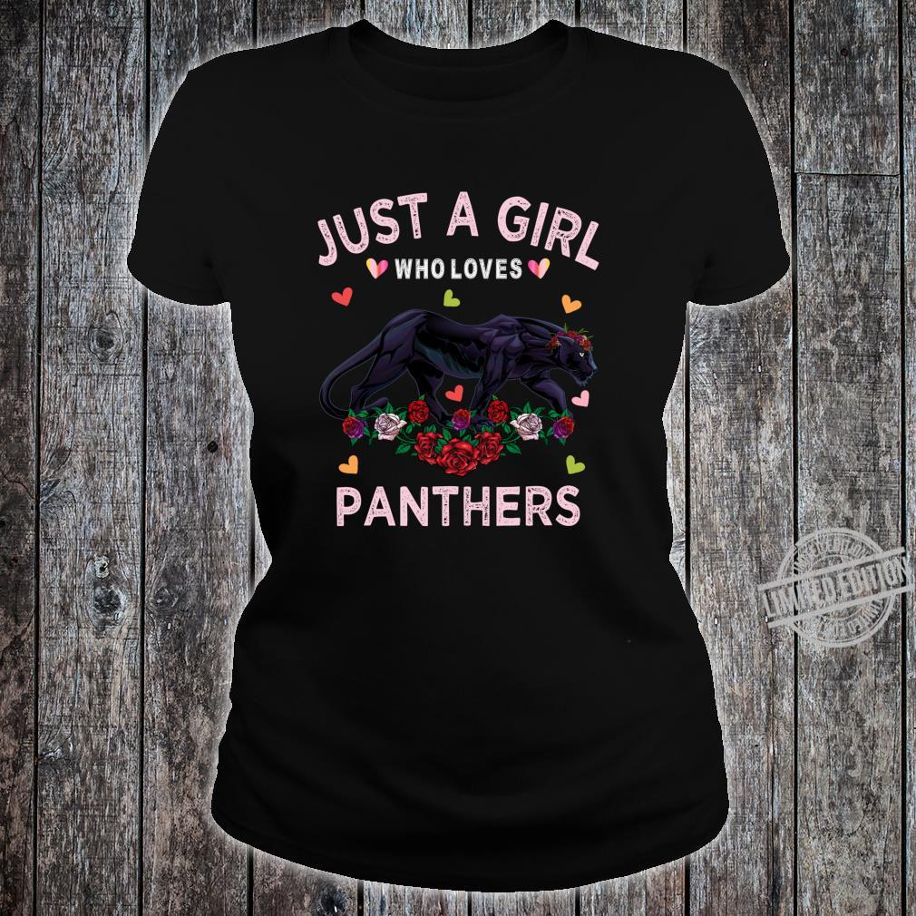 Panther Just A Girl Who Loves Panthers Shirt ladies tee