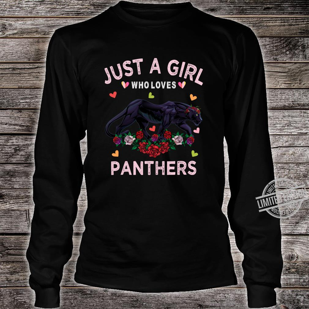 Panther Just A Girl Who Loves Panthers Shirt long sleeved