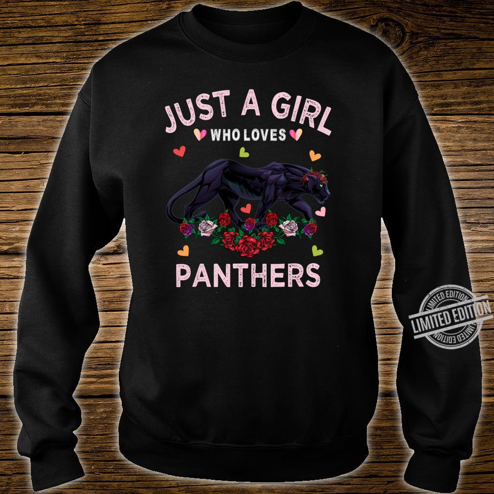 Panther Just A Girl Who Loves Panthers Shirt sweater