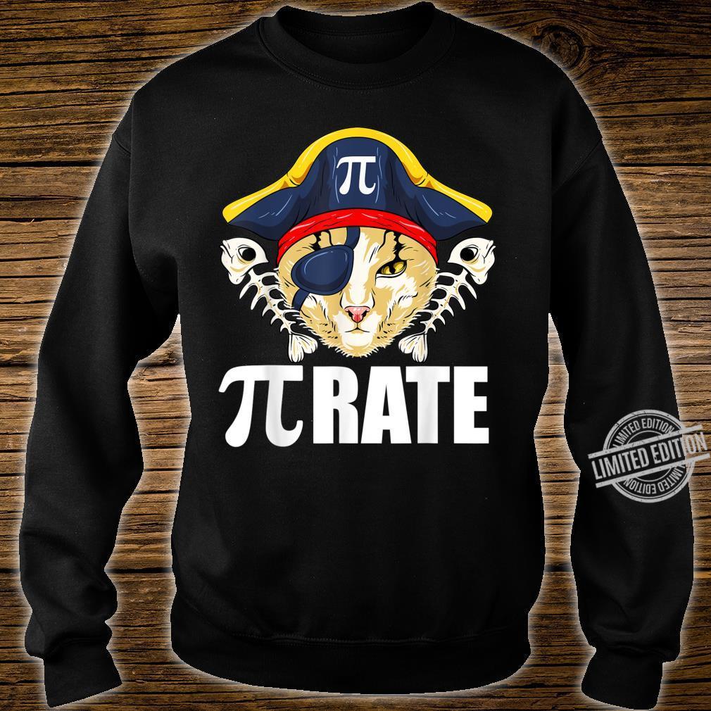 Pi Day Shirt Pirate Cat And Math Shirt sweater