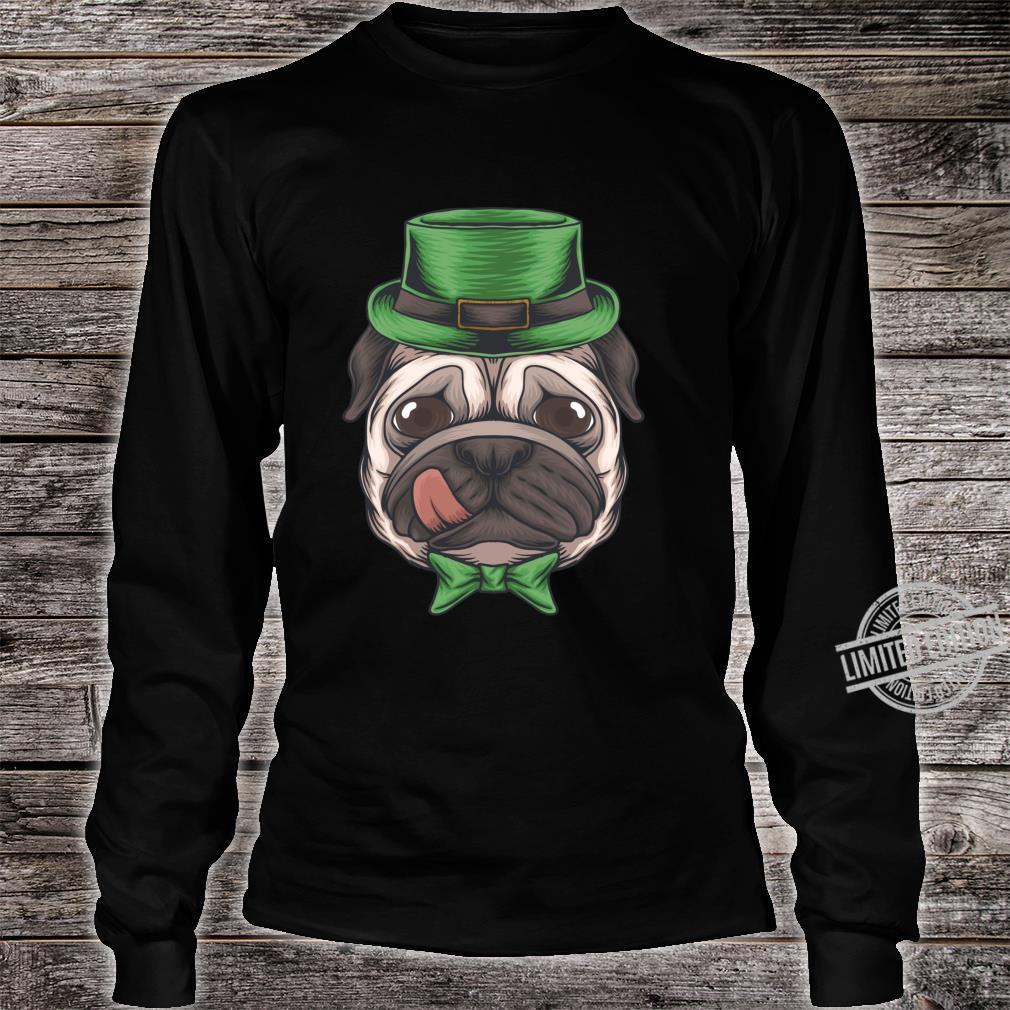 Pug St Patricks Day Boys Leprechaun Pug Dog Shirt long sleeved