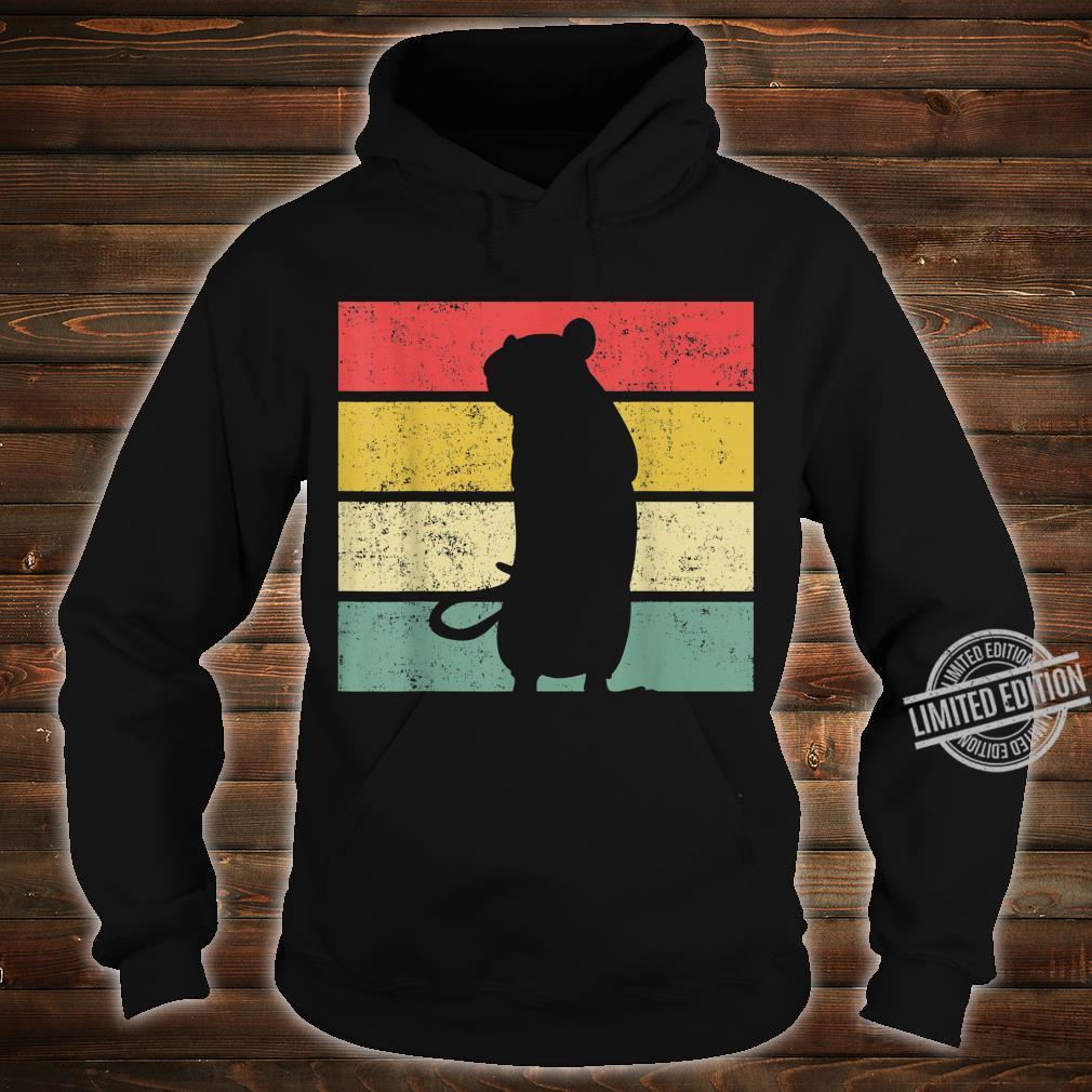 Ratte Ratten Retro Nagetier Liebhaber Shirt hoodie
