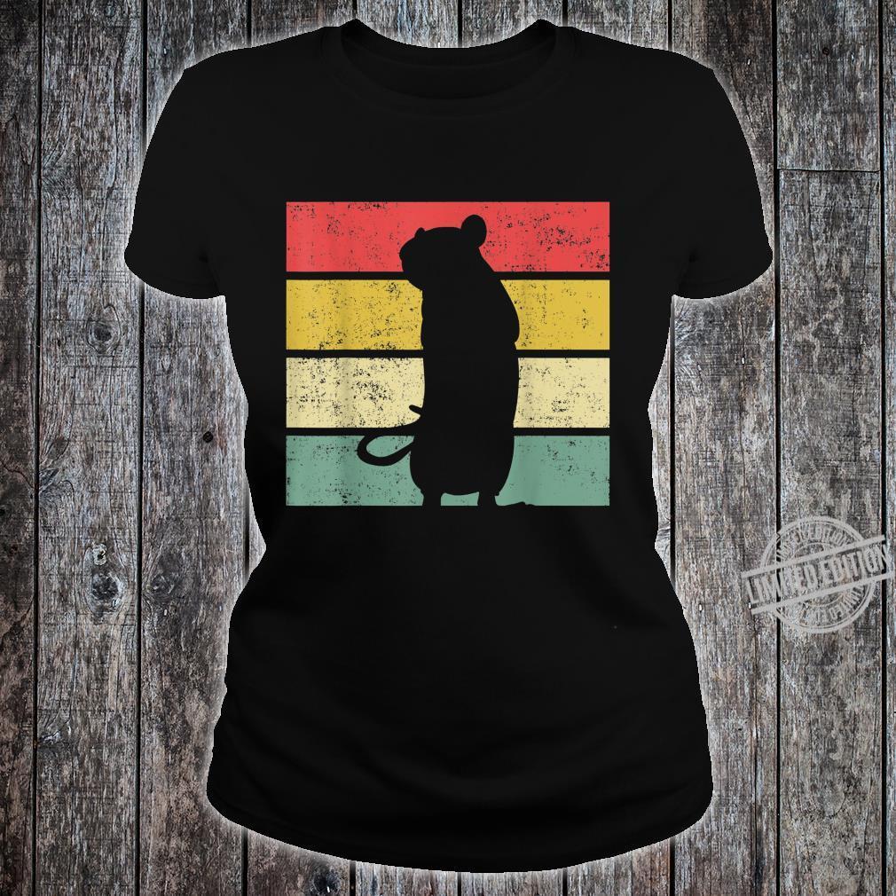 Ratte Ratten Retro Nagetier Liebhaber Shirt ladies tee