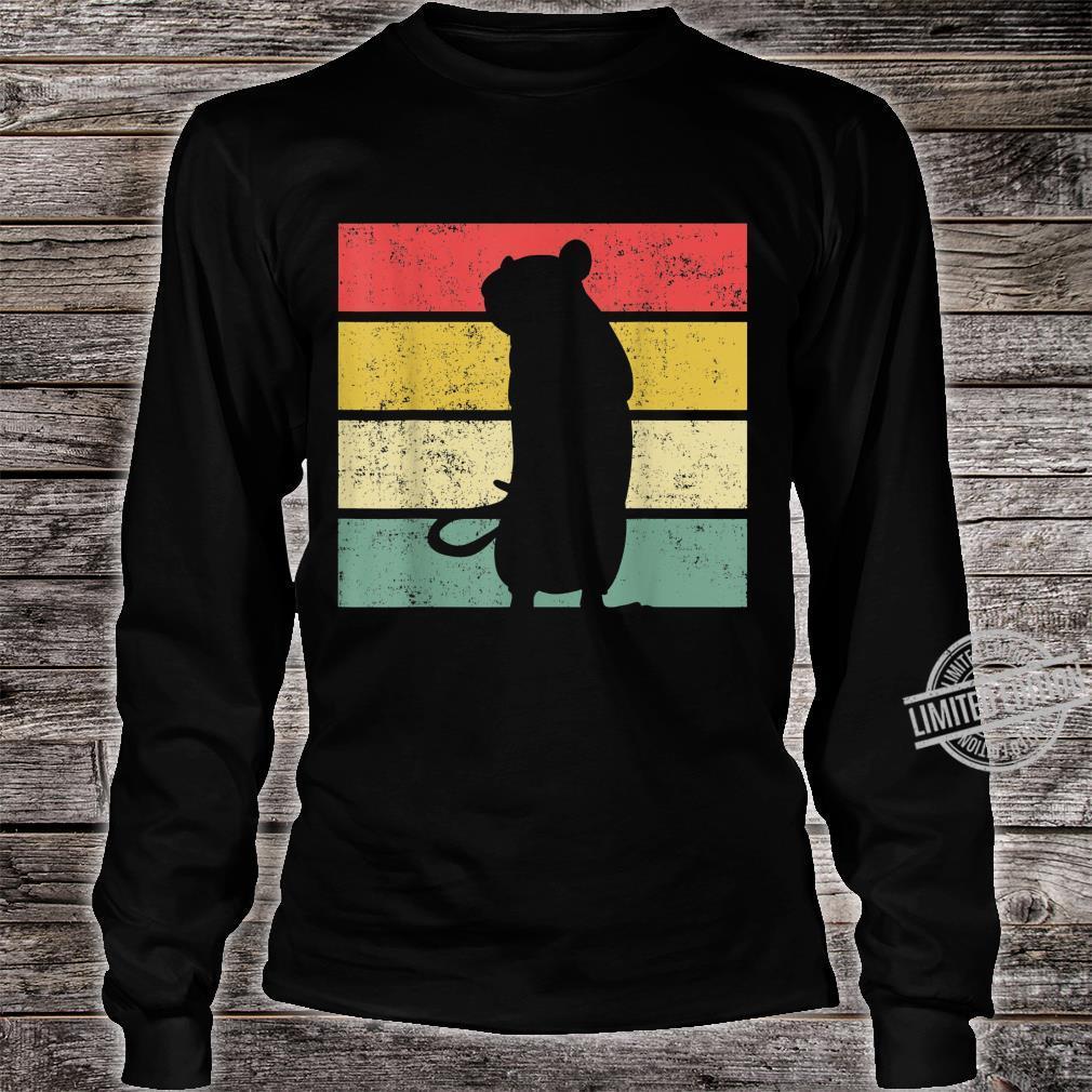 Ratte Ratten Retro Nagetier Liebhaber Shirt long sleeved
