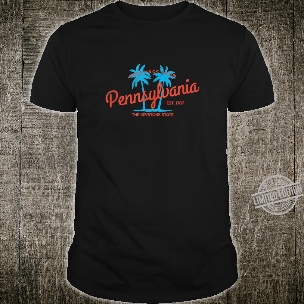 Retro Greetings from Pennsylvania Tropical Shirt