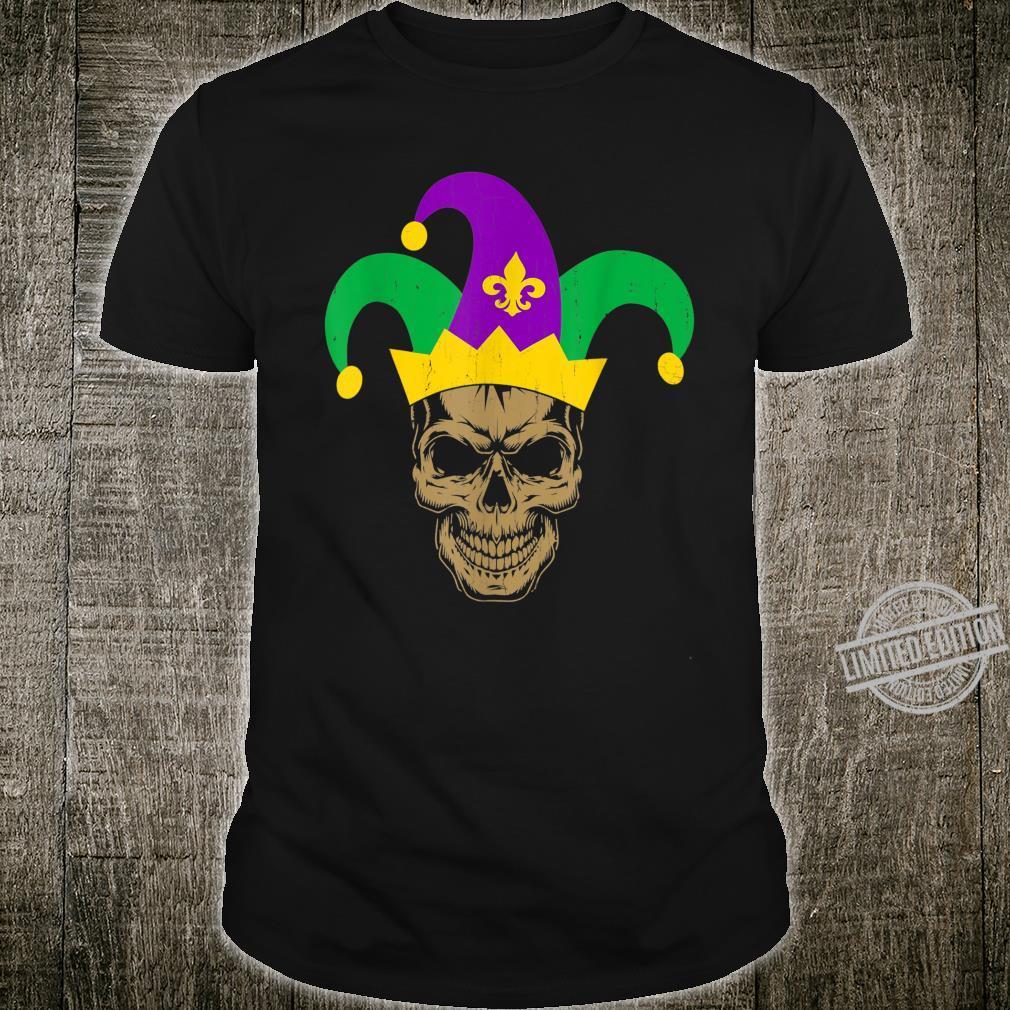 Skull Mardi Gras Jester Hat Shirt