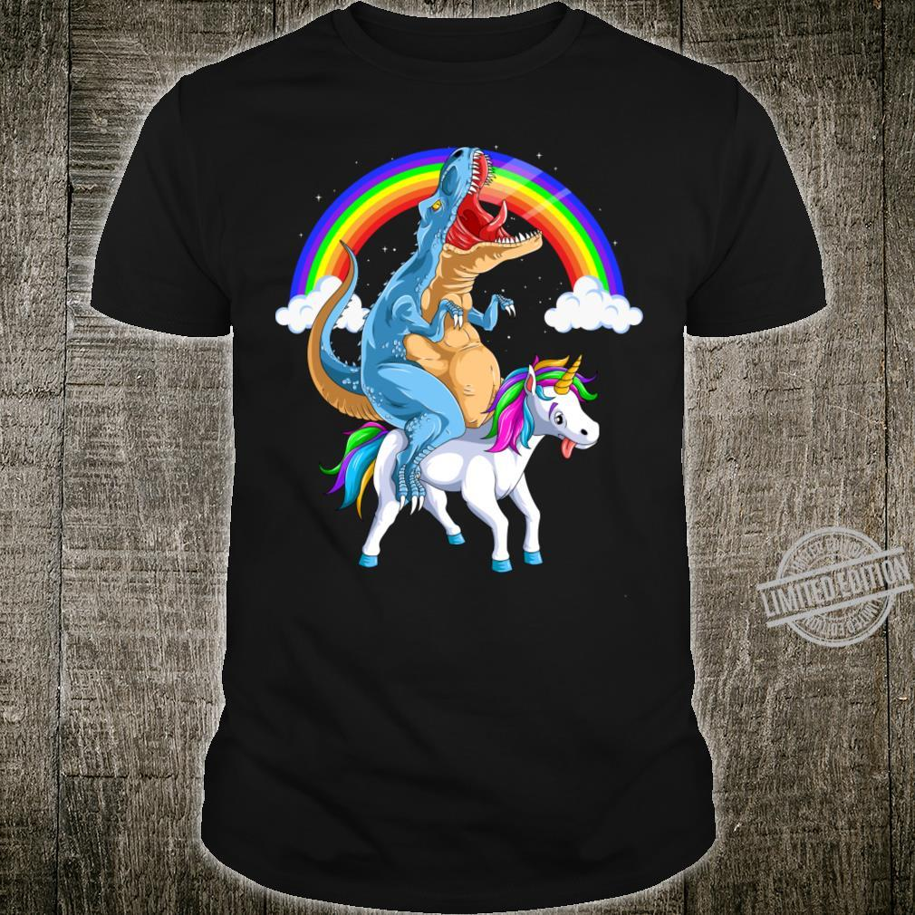 T Rex Riding Unicorn Shirt