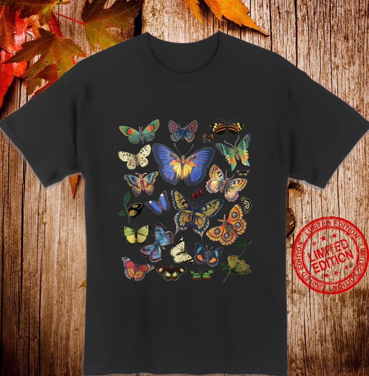 Vintage Botanical Butterfly Shirt Shirt
