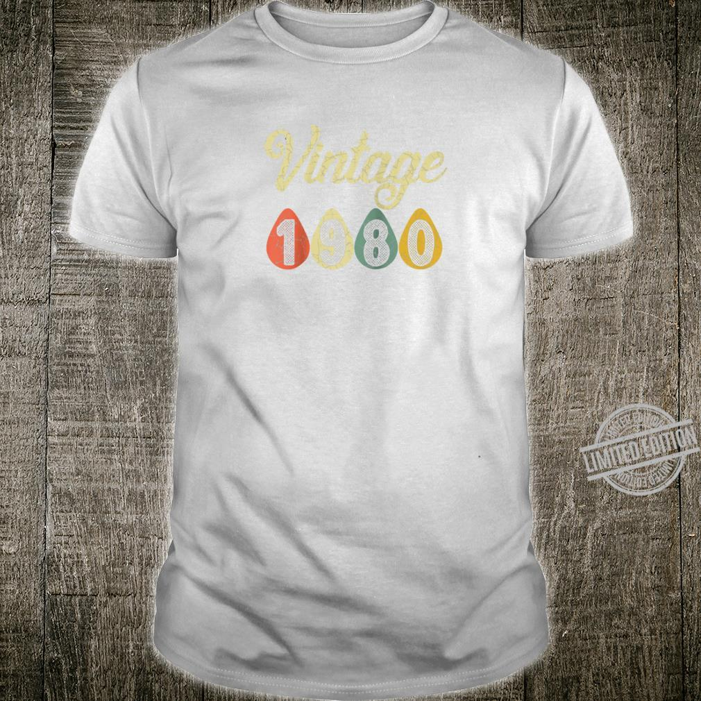 Vintage Retro 1980 40 Years Old 40th Birthday Shirt