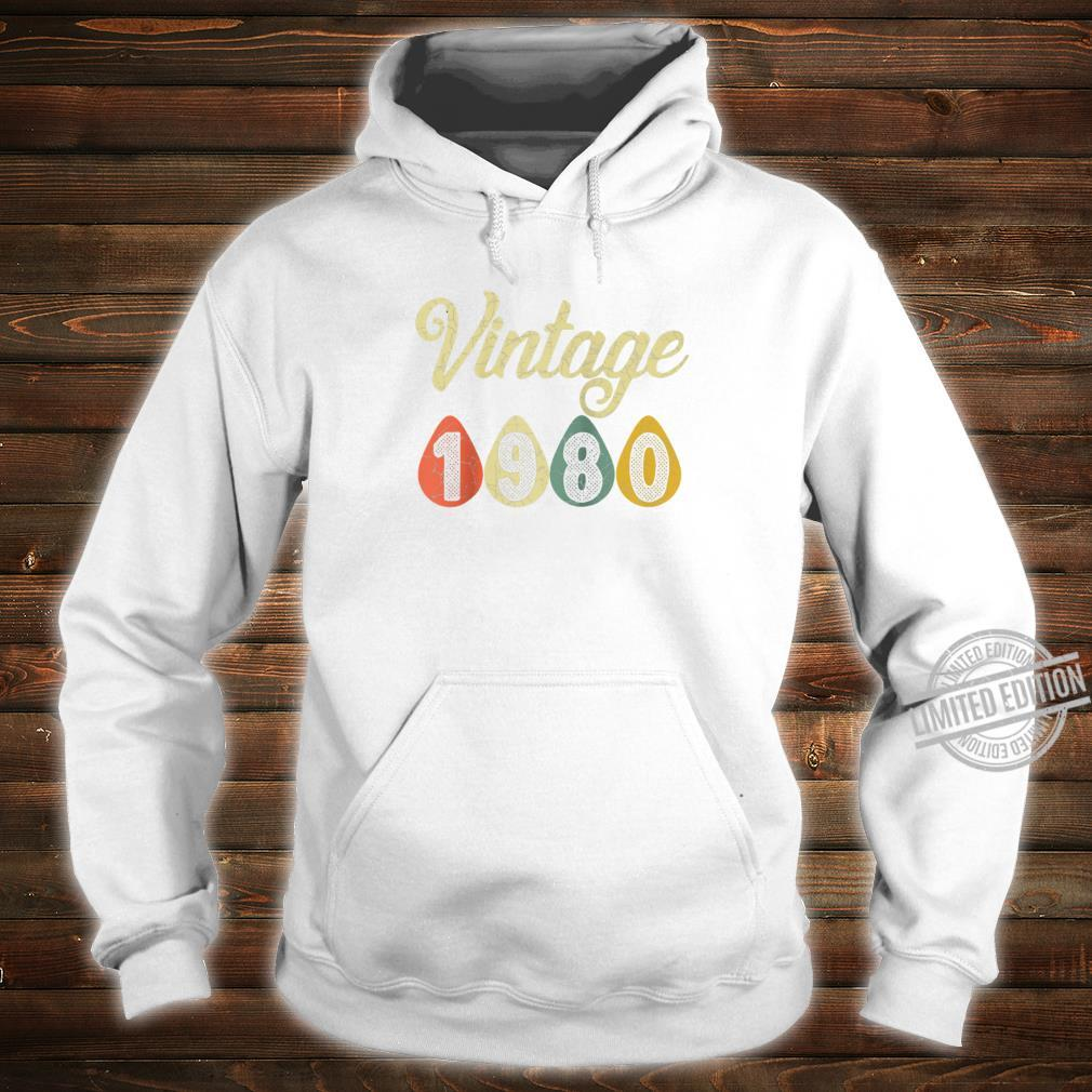 Vintage Retro 1980 40 Years Old 40th Birthday Shirt hoodie