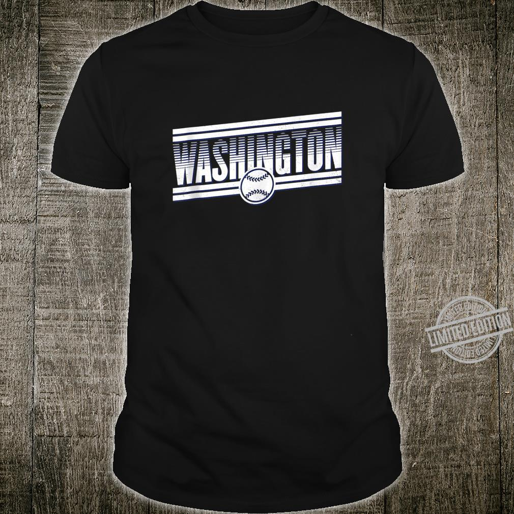 Vintage Washington Baseball Gameday Retro National Shirt