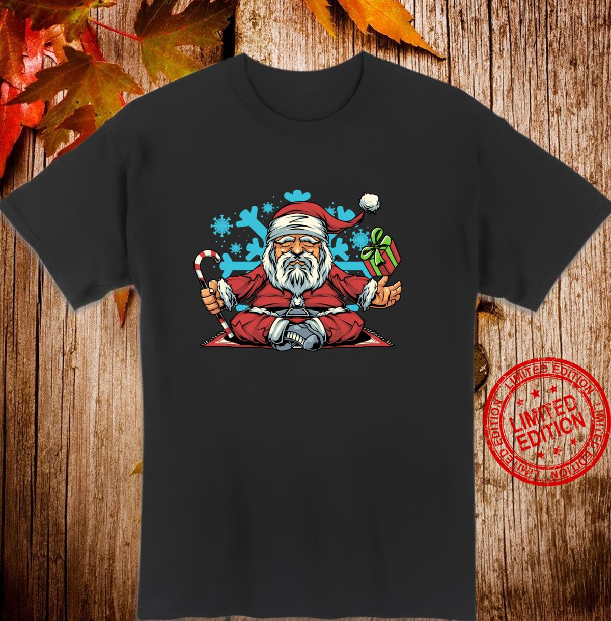 Weihnachten Yoga Weihnachtsmann Shirt
