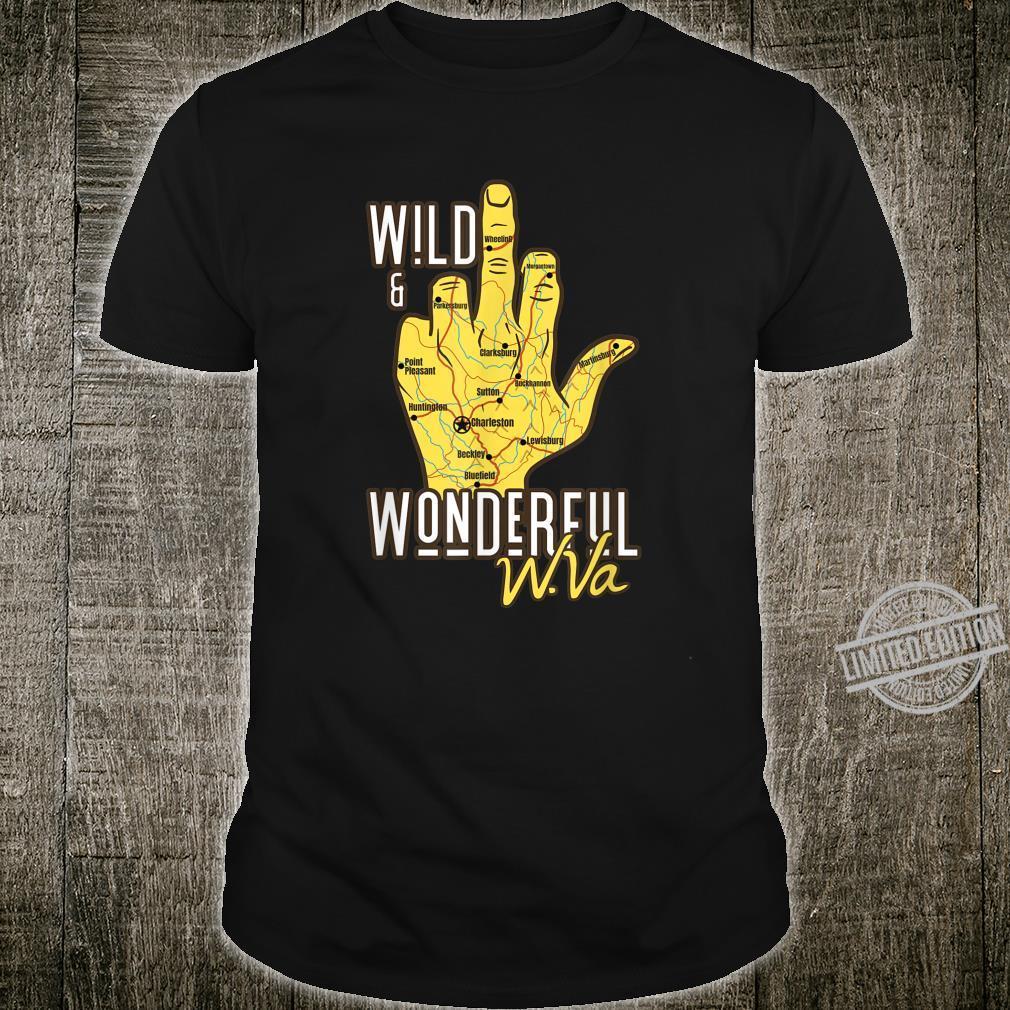 West Virginia Map WV Middle Finger WV Souvenir Shirt