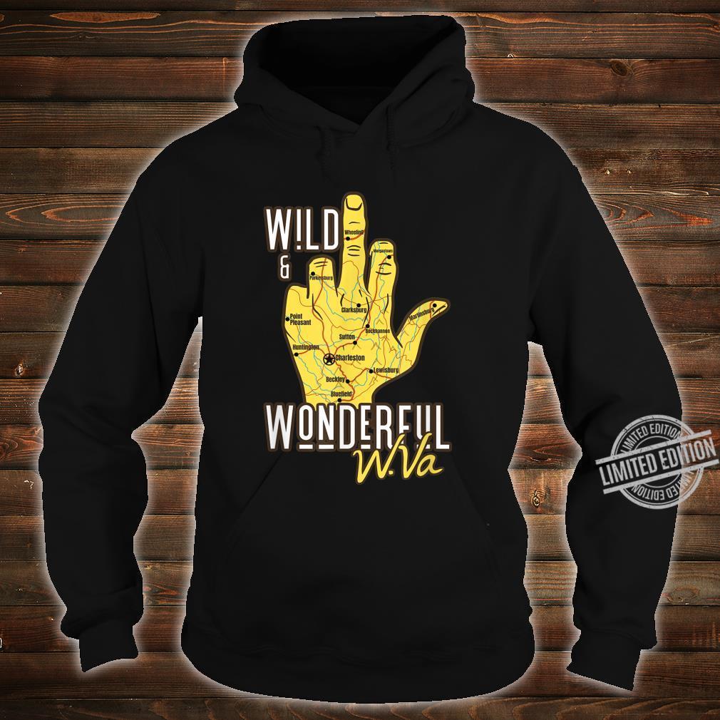 West Virginia Map WV Middle Finger WV Souvenir Shirt hoodie
