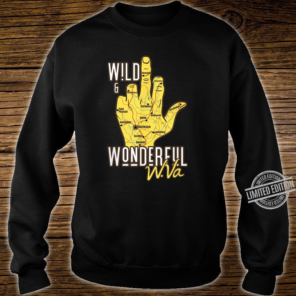 West Virginia Map WV Middle Finger WV Souvenir Shirt sweater