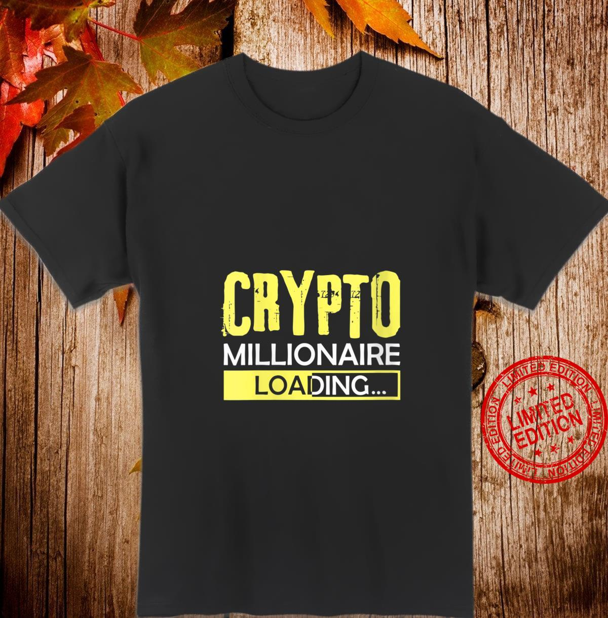 Womens Crypto Millionaire Loading, Blockchain Moon Wallet Shirt