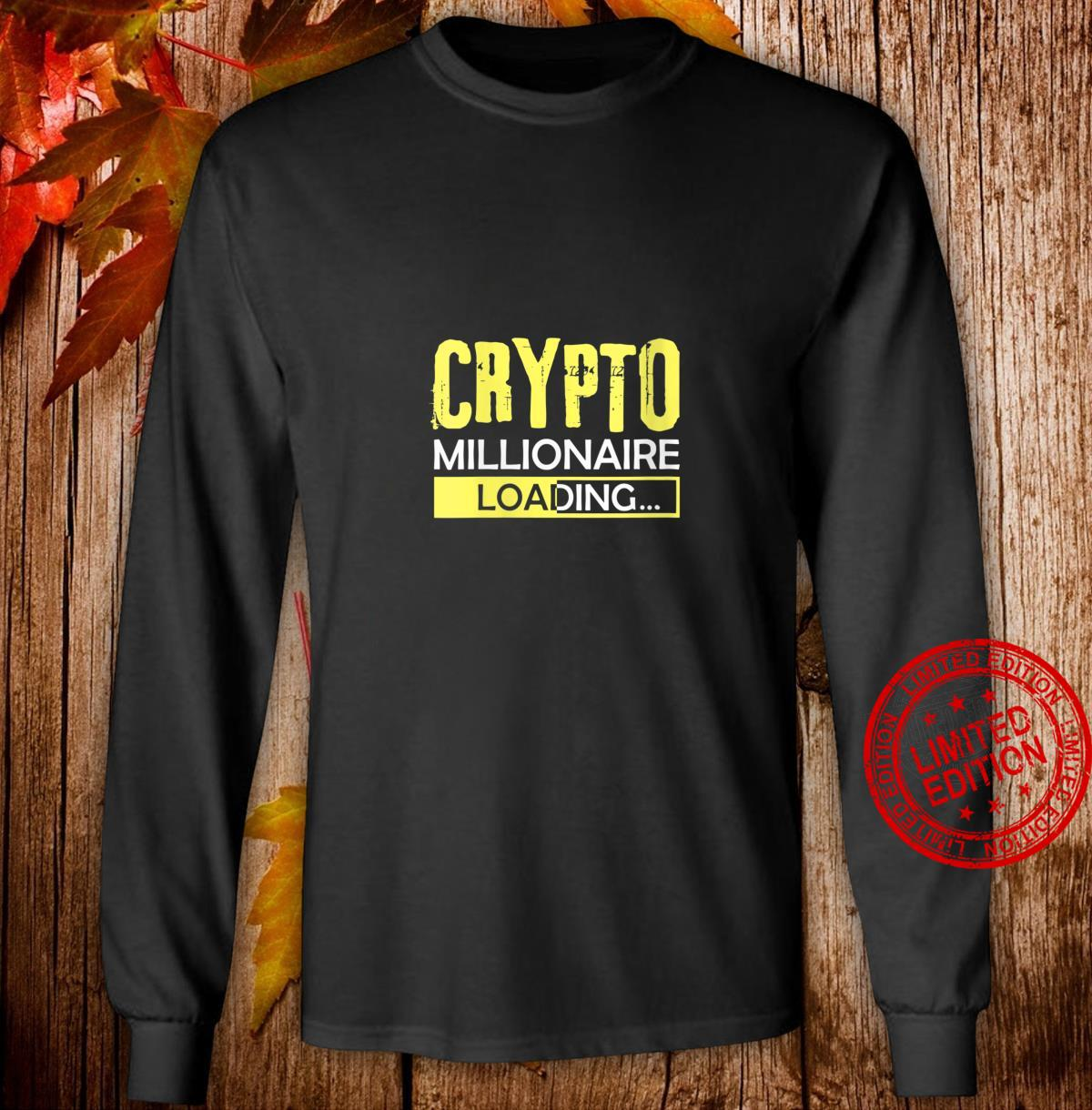 Womens Crypto Millionaire Loading, Blockchain Moon Wallet Shirt long sleeved