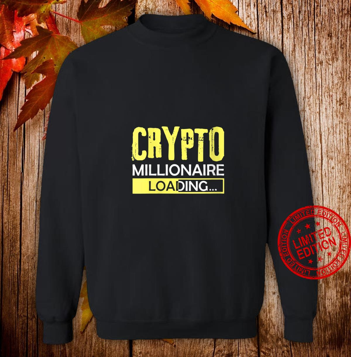 Womens Crypto Millionaire Loading, Blockchain Moon Wallet Shirt sweater