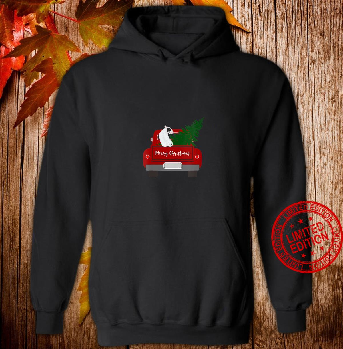 Womens Cute Bull Terrier Retro Christmas Shirt hoodie
