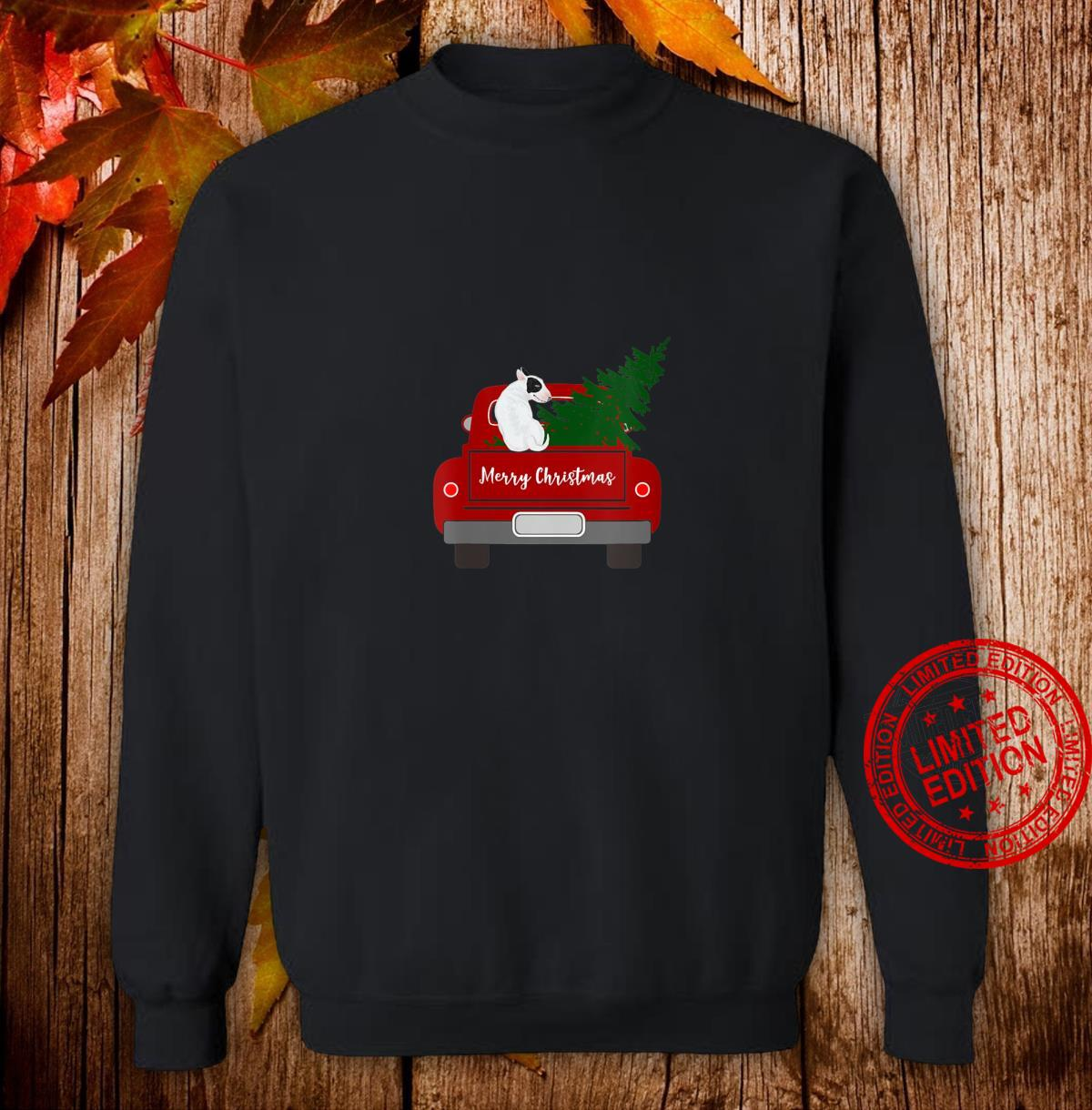 Womens Cute Bull Terrier Retro Christmas Shirt sweater