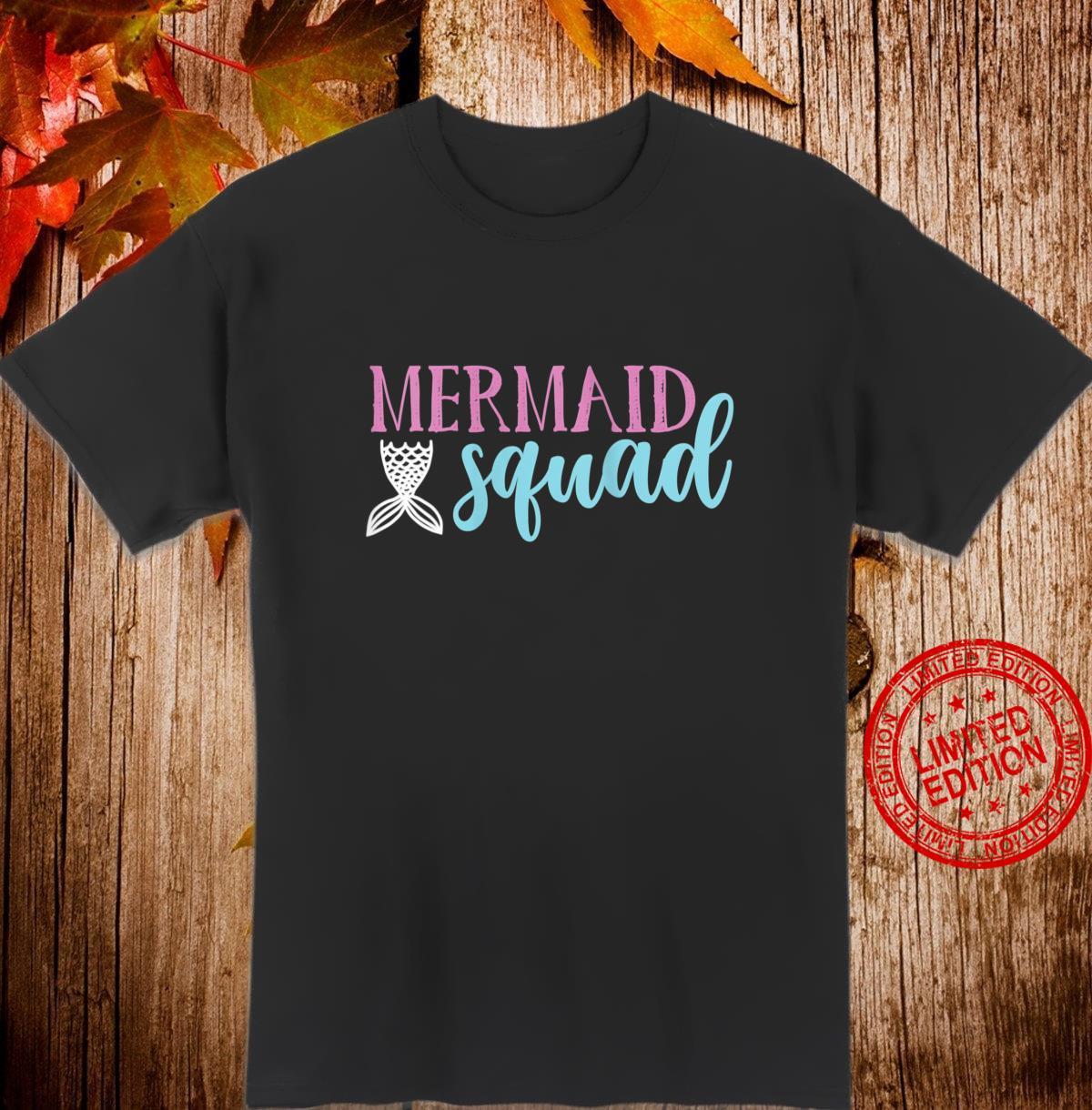 Womens Cute Mermaid Squad Shirt Mermaids Shirt