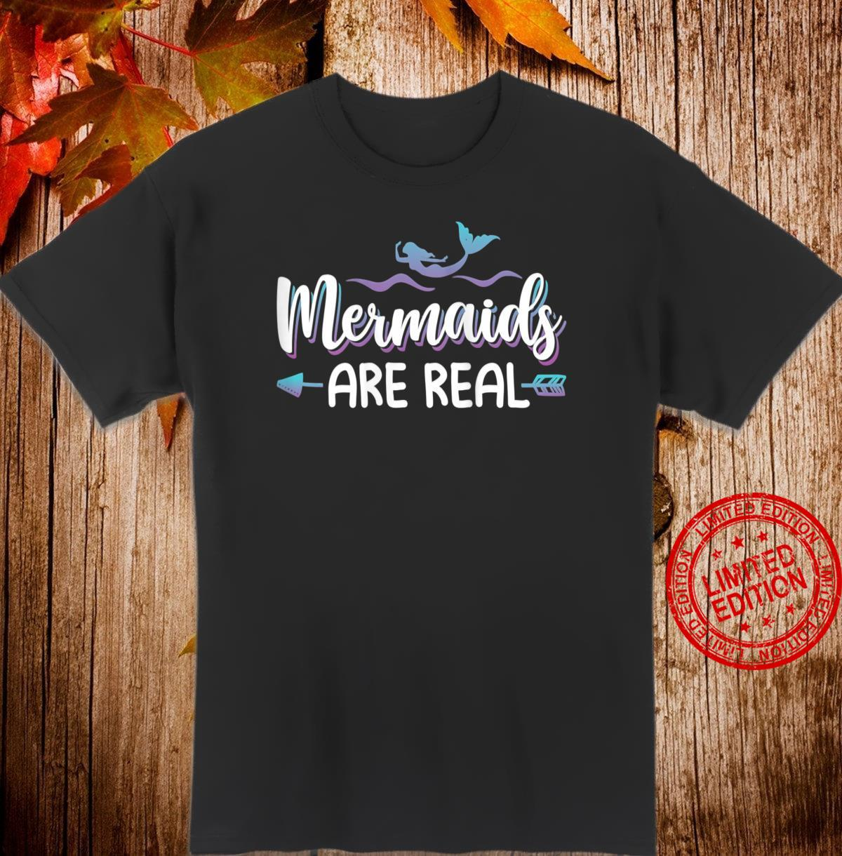 Womens Cute Mermaids Are Real Shirt Mermaid Shirt