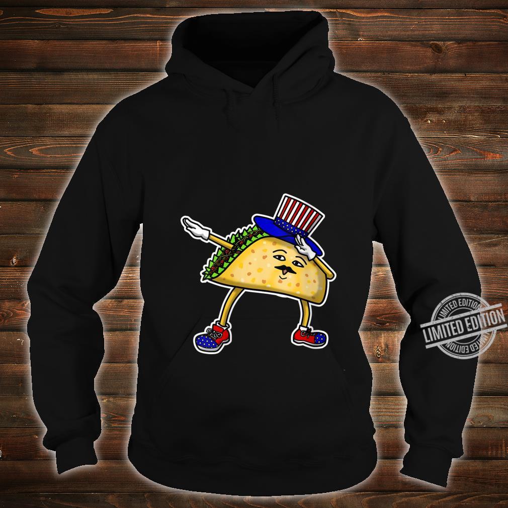 Womens Dabbing USA Independence Day Taco Celebration Gif Shirt hoodie