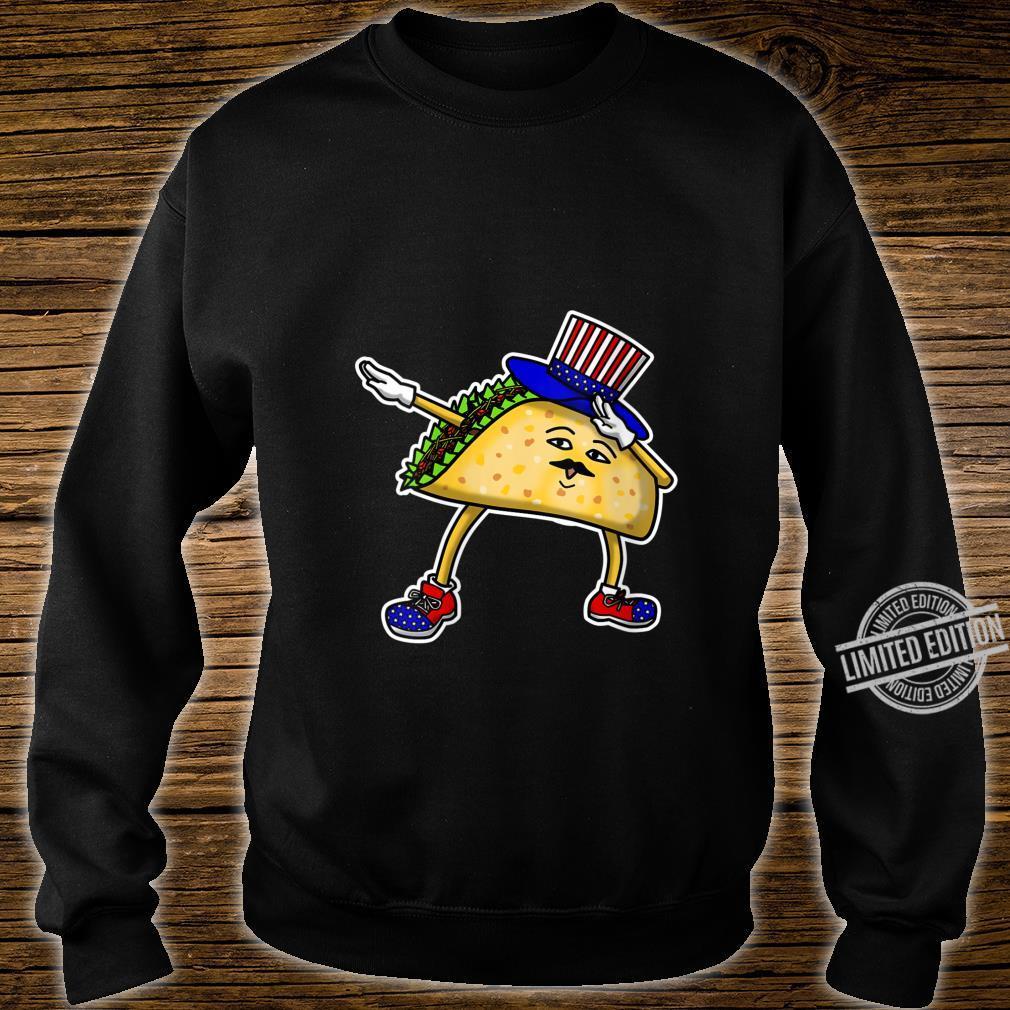 Womens Dabbing USA Independence Day Taco Celebration Gif Shirt sweater