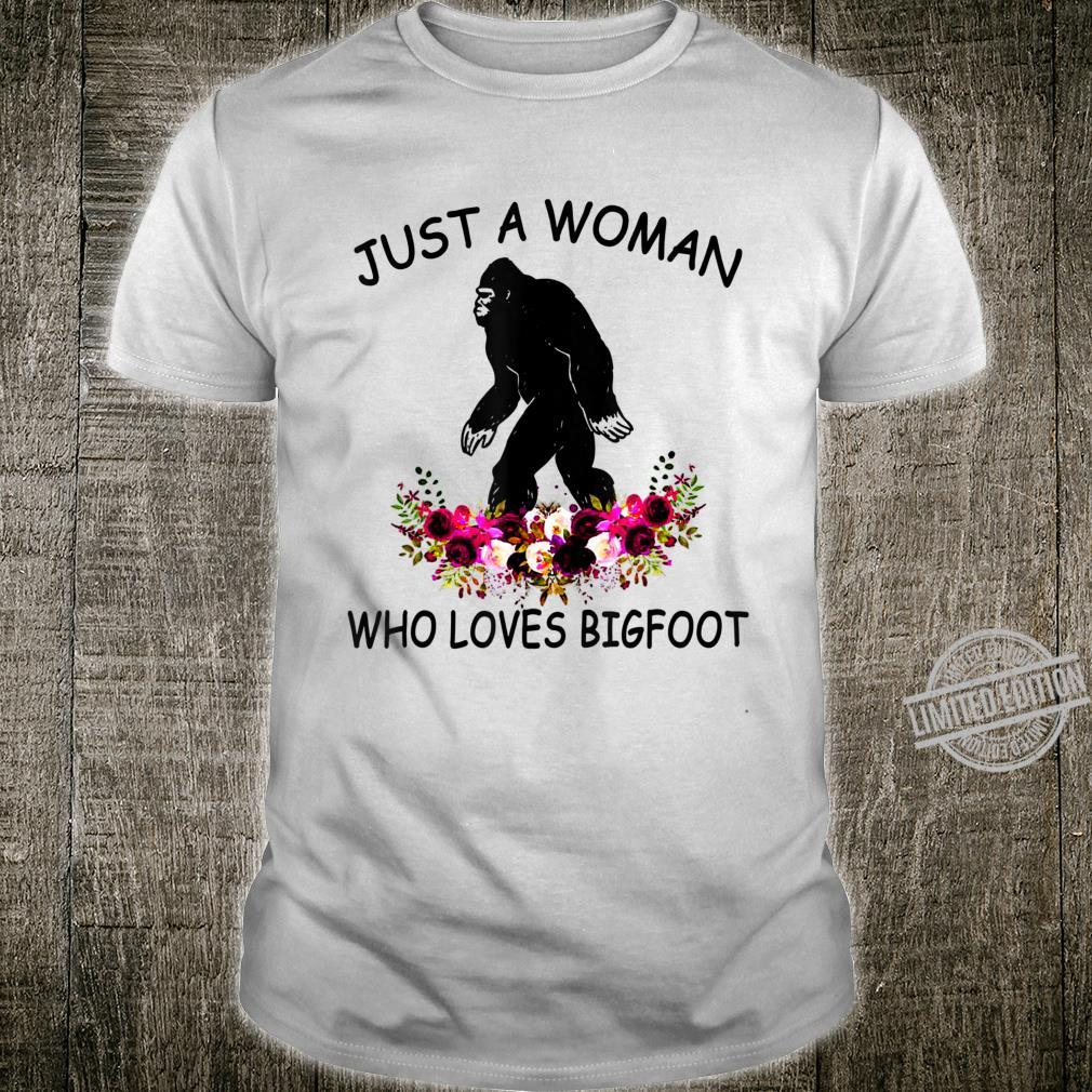 Womens Who Loves Bigfoot Camping Shirt