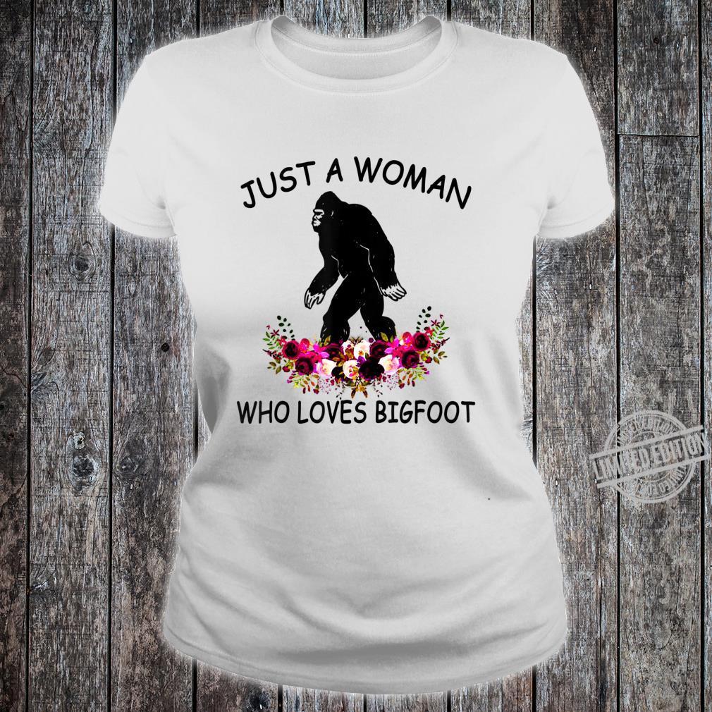 Womens Who Loves Bigfoot Camping Shirt ladies tee