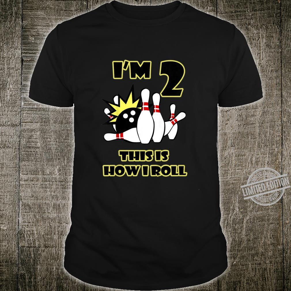 Youth 2 Year Old Birthday Party This is How I Roll Bowling Shirt